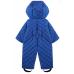Утепленный комбинезон с вышивкой, цвет голубой