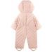 Утепленный комбинезон с вышивкой, цвет розовый